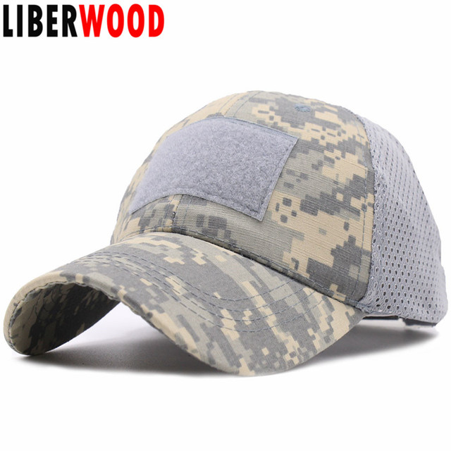 e03bdbf8e79 ACU Woodland Marpat Low Crown Multicam Operator Hat Camo Mesh Cap Airsoft  Hats Tactical Contractor Army