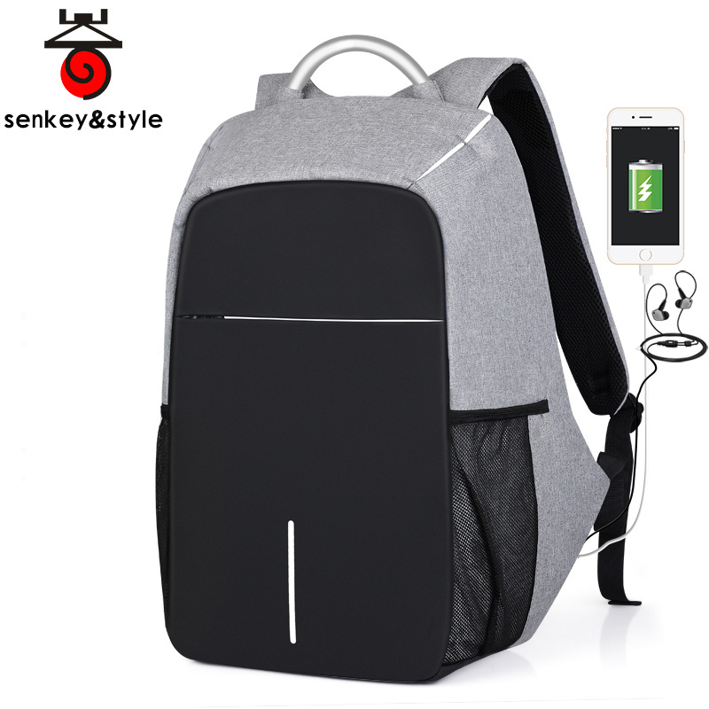 все цены на New Design 15.6inch Laptop Backpack Male USB Business Anti theft Backpack for Teenager Casual Student School Bags male Backpacks