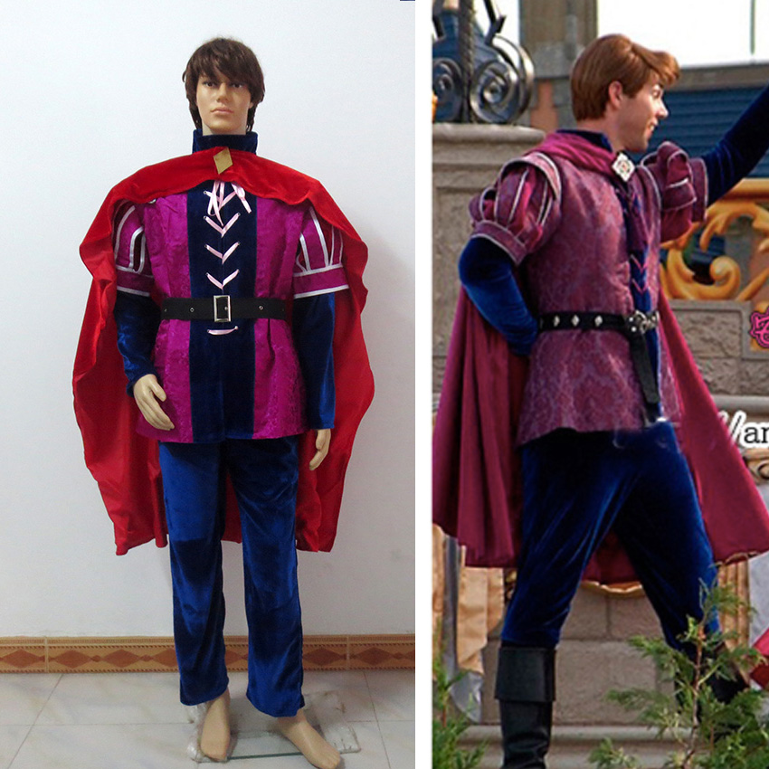 Custom Made Sleeping Beauty Costume 4-Pieces Prince Phillip Cosplay Costume