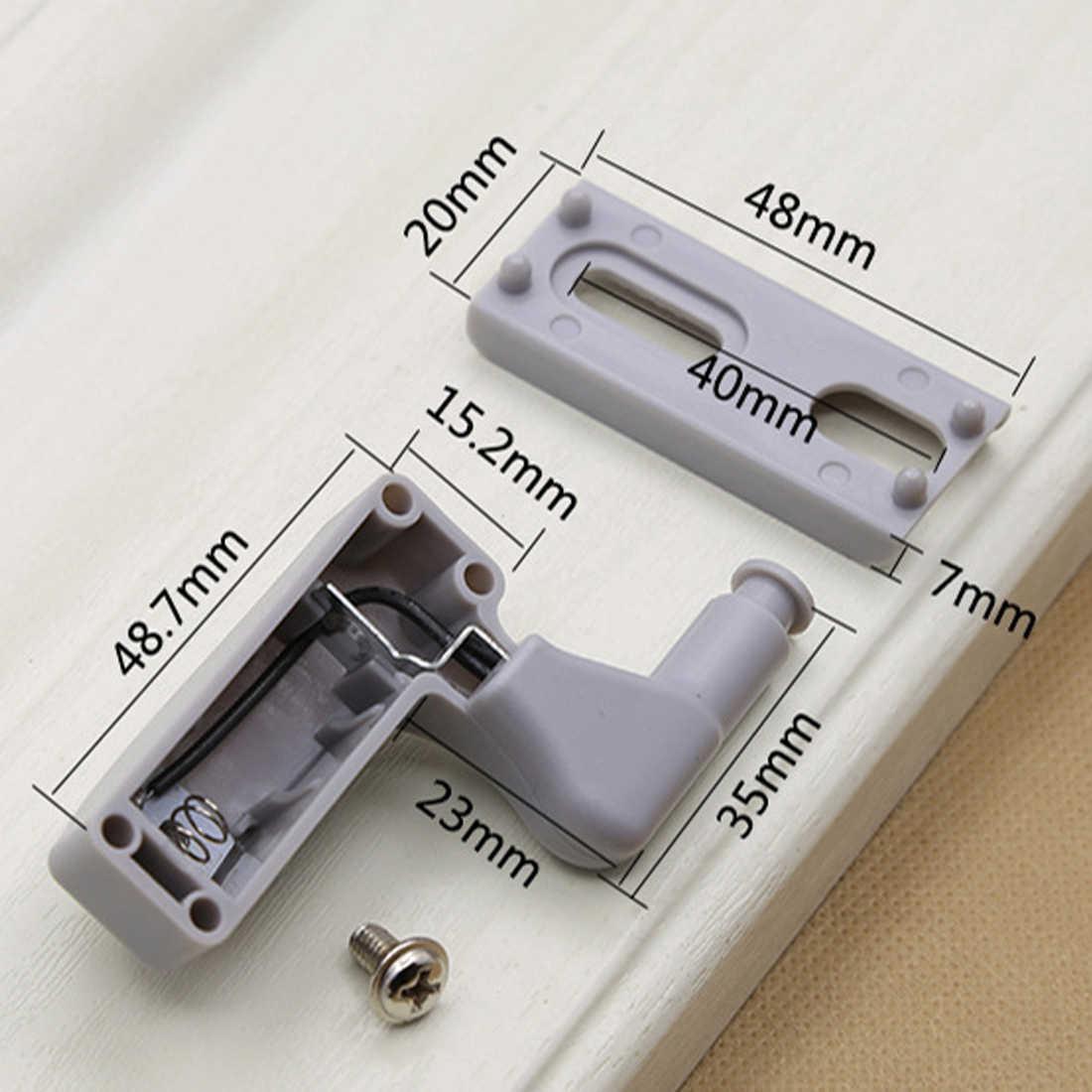 10 шт./компл. серый шарнир шкафа СВЕТОДИОДНЫЕ датчики для шкафа дома двери шкафа