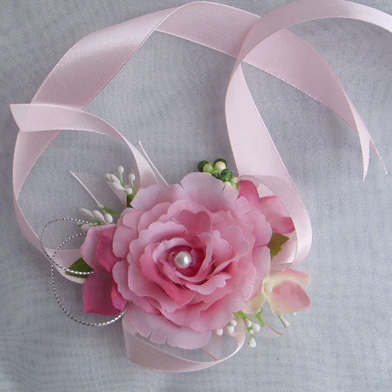 How to make a wrist corsage with silk flowers gallery flower sale 2 pcs bridal or bridesmaid flower wrist corsage artificial silk sale 2 pcs bridal or mightylinksfo