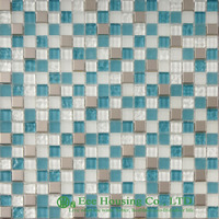 Washable and Durable Crystal Mosaic Tile Manufacturer in China, For Bathroom / Swimming Pools