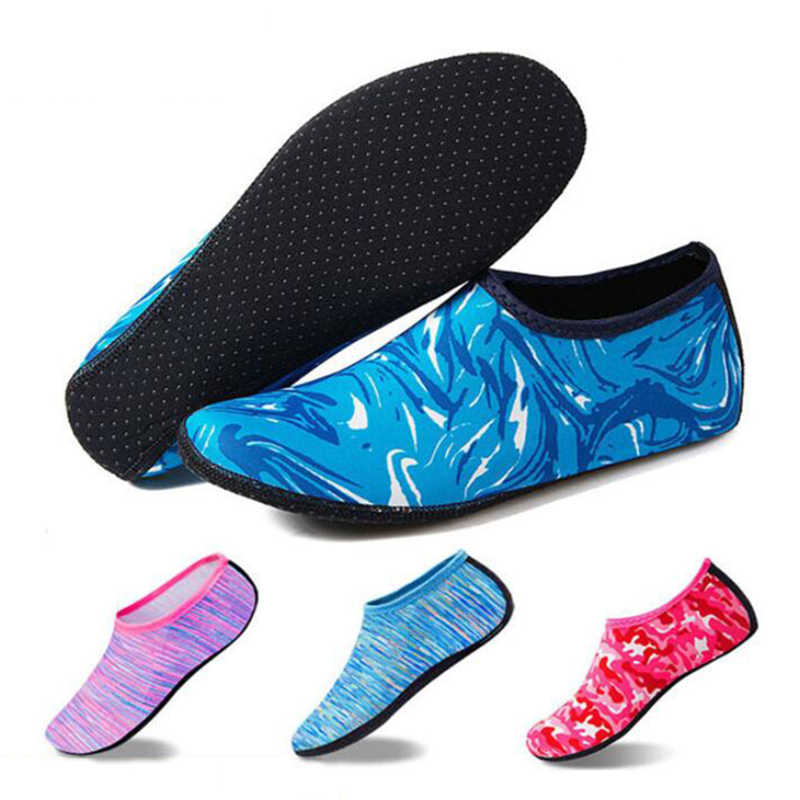 Beach Swimming Water Sport Socks Kids Men Women Snorkeling Anti Slip Shoes Yoga Dance Surfing Diving Shoes Camouflage Striped
