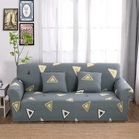 Grey Elastic Corner Sofa Covers For Living Room Multi Size Yellow Triangle Couch Sofa Slipcovers Polyester