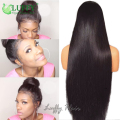 250 Density Long Straight Front Lace Wig 13x6 Lace Frontal Virgin Malaysian Lace Front Human Hair Wigs With Baby Hair Ponytail