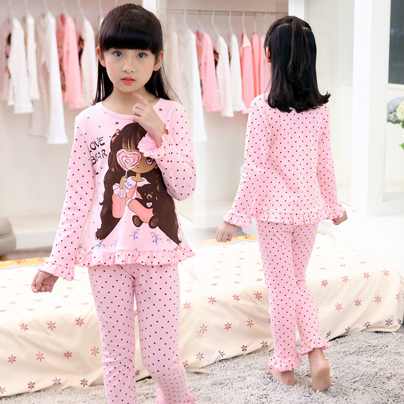 2017 New Spring Autumn Children's Sleepwear Cotton long-sleeves Shirt and Pant Suit Girls Family Pajamas Kids 4-8 years old classic plaid pattern shirt collar long sleeves slimming colorful shirt for men