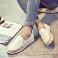 famous brand espadrilles women plaid design fisherman shoes woman black/white creepers casual style loafers women slip on shoes