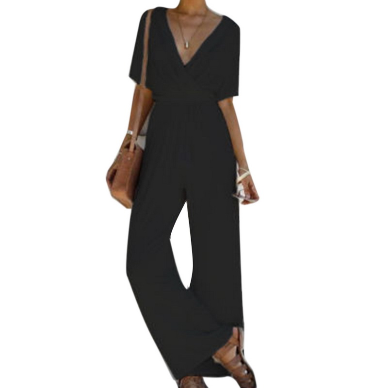 019a1a5a16 2019 Laamei 2018 New Summer Wide Leg Jumpsuit Overalls Long Trousers ...