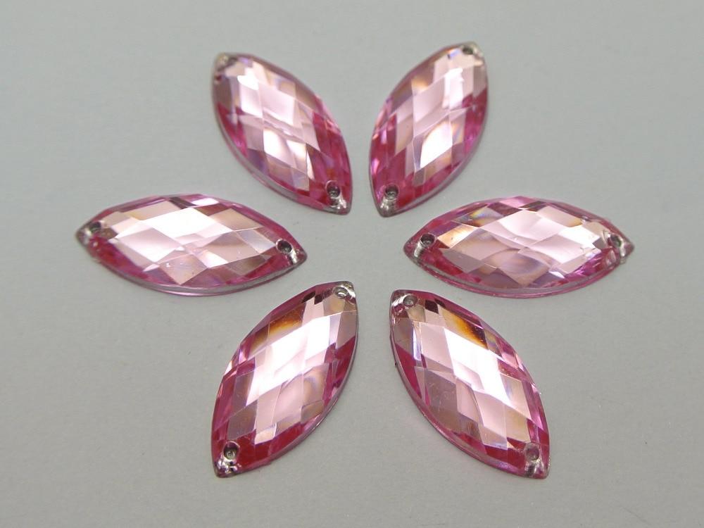 10Pcs 16 mm Rond Strass Bord rose design en plastique à Coudre Boutons Trou de couronne