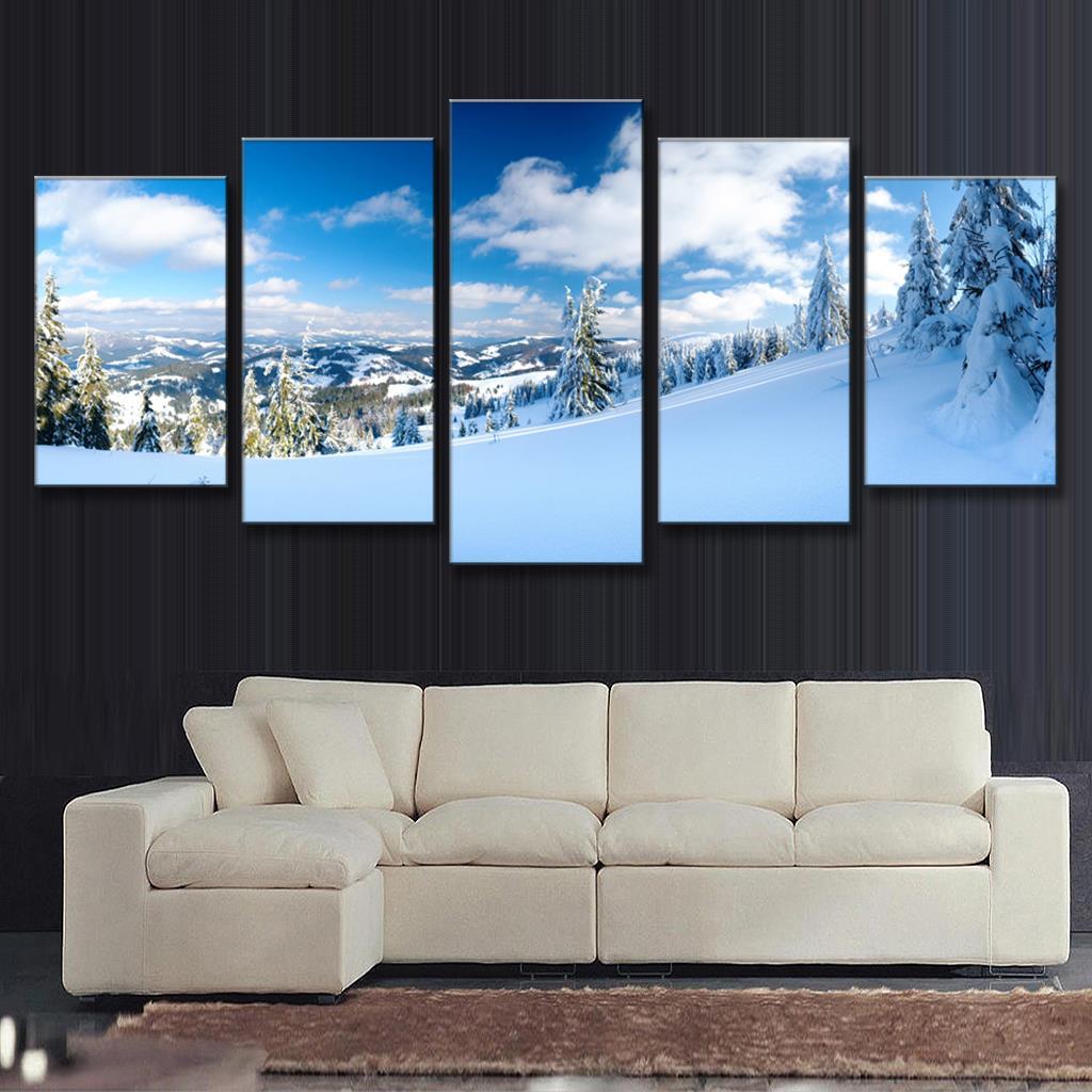 Картинки зима природа для печати