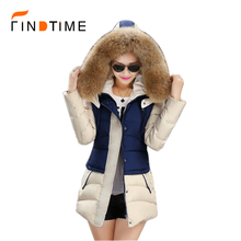 2016 European and American Women New Winter Coat Big Yards Thick Padded Hooded Jacket Fashion