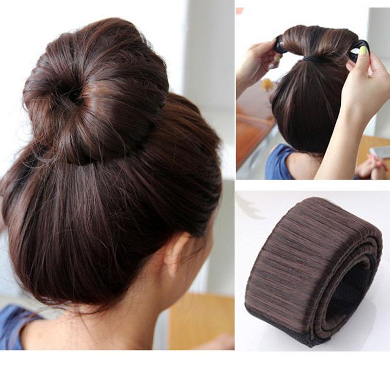 Magic bun hair