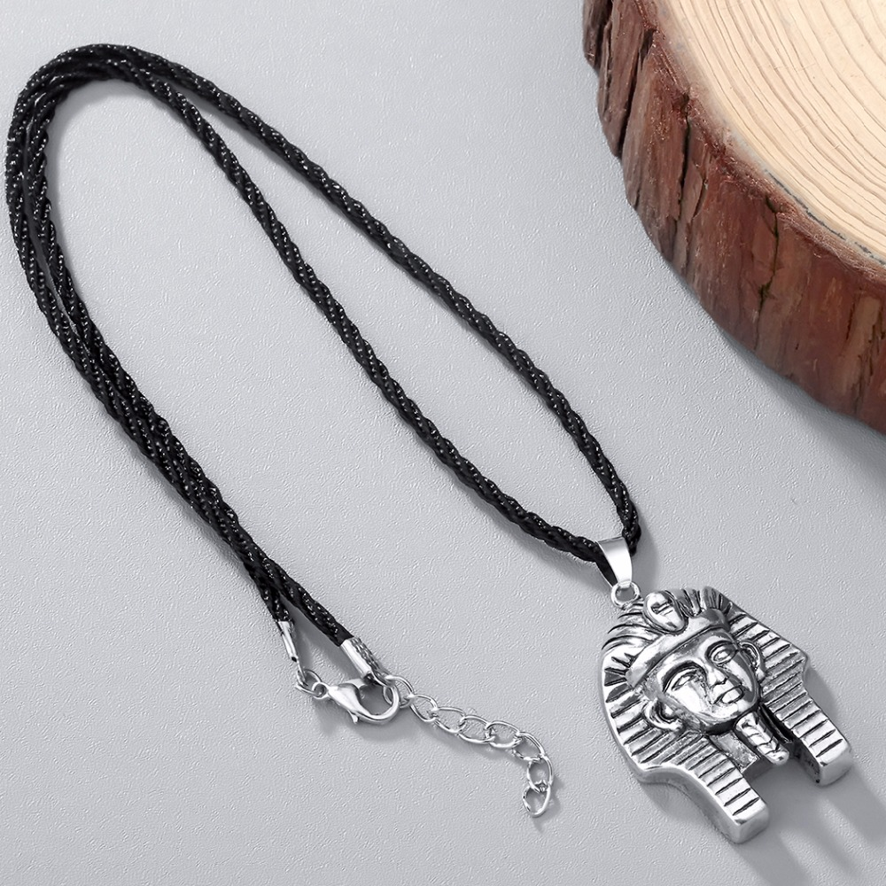 HTB1iSoDSXXXXXbTXpXXq6xXFXXX3 - Chandler Pharaoh Pendant Necklace For Men/Women Vintage Egypt Egyptian King Classic Old Jewelry Amulet God Jewelry