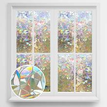 Funlife 3D Privacy Decorative Glass Sticker Rainbow Effect Adhesive Vinyl Film on Removable Windows