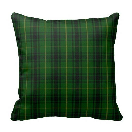 Home Pillow Cases Green Clan Macarthur font b Tartan b font Plaid Pillow Case Size 20