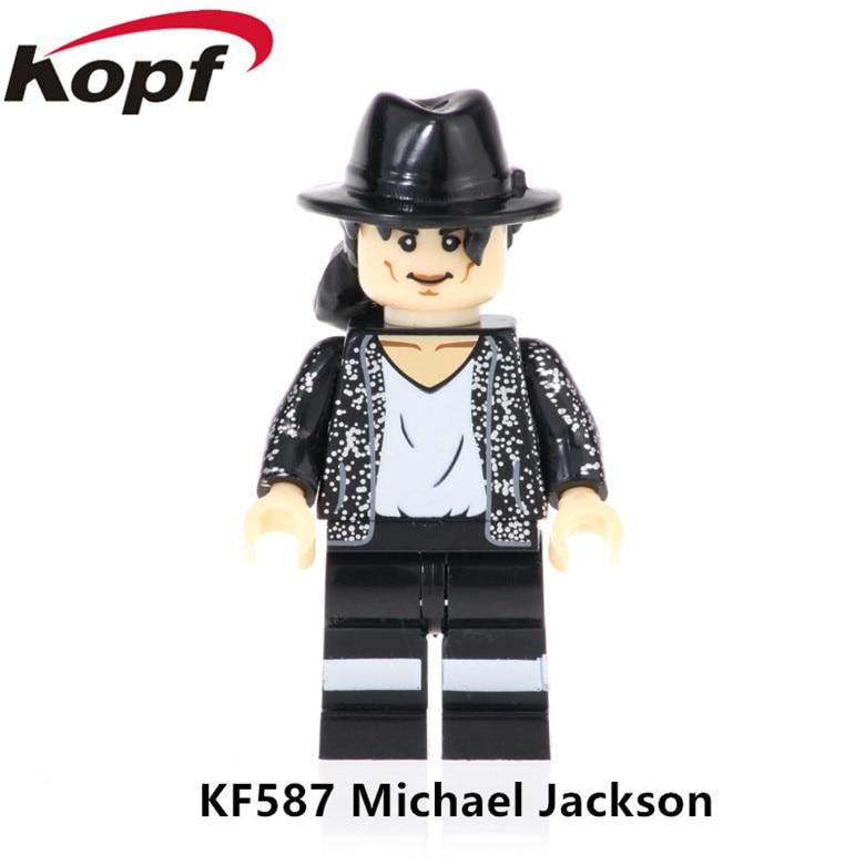 kf587 single sale assemble michael jackson model christmas gift figures lesrning building blocks bricks for children