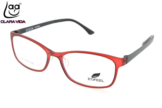ONLY 7G Large Red TR Ultra Light Memory Nerd Glasses Frame Custom Made  Optical Prescription Reading 8a2bfe2346