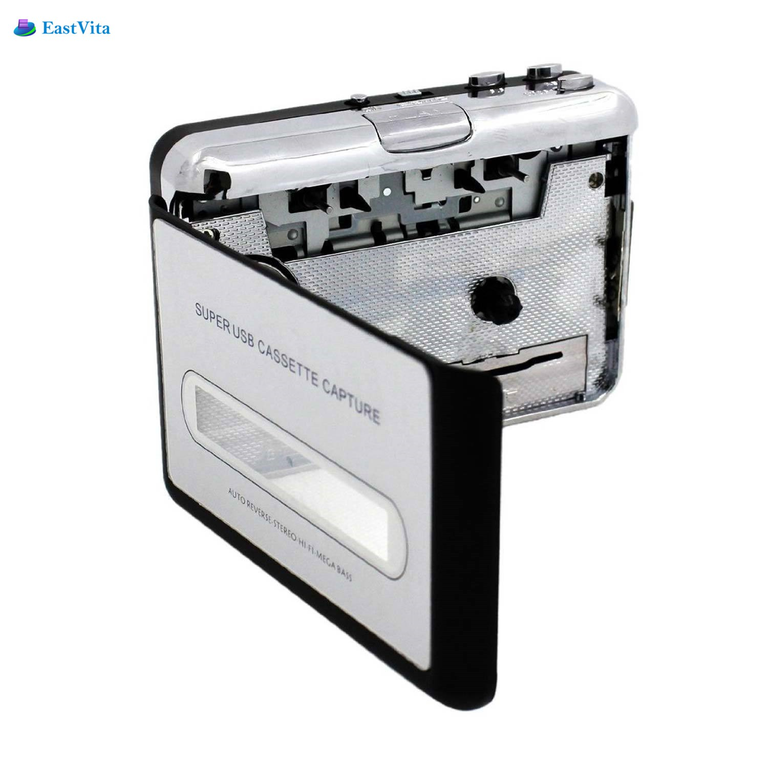 LumiParty USBcassette capture Classic Portable USB Cassettes-to-MP3 Converter Capture Stereo Audio Music Player Tape to PC Porta ...