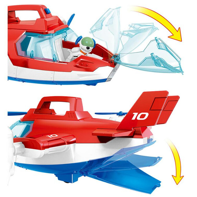 Paw Patrol Puppy Air Patrol Aircraft Ryder Captain Robot Dog Plane Toy  Action Figure Model Patrulla Canina Children Toys Gifts