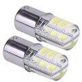 2pcs Car 1156 Ba15s p21w Led Parking Lamp Ba15s 1156 5050 SMD Red Brake Turn Signal Light Led Bulb Crystal Auto Styling