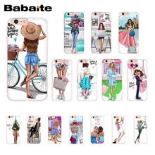 4bee6899a9ddaa Babaite VOGUE Christmas Princess Girl Female boss coffee Phone Case for  iPhone 8 7 6 6S