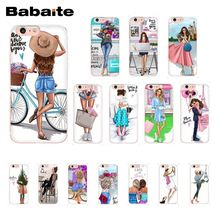 Babaite VOGUE Christmas Princess Girl Female boss coffee Phone Case for iPhone 8 7 6 6S Plus X XS MAX 5 5S SE XR 10 Cases