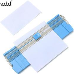 Cortador dos aparadores da foto do papel da precisão a4/a5 de vodool guilhotina com régua da tração-para fora para etiquetas da foto aparador de papel aleatório da cor
