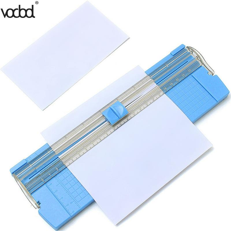VODOOL Guillotine A4/A5 Precision Paper Photo Trimmers Cutter With Pull-out Ruler For Photo Labels Color Random Paper Trimmer