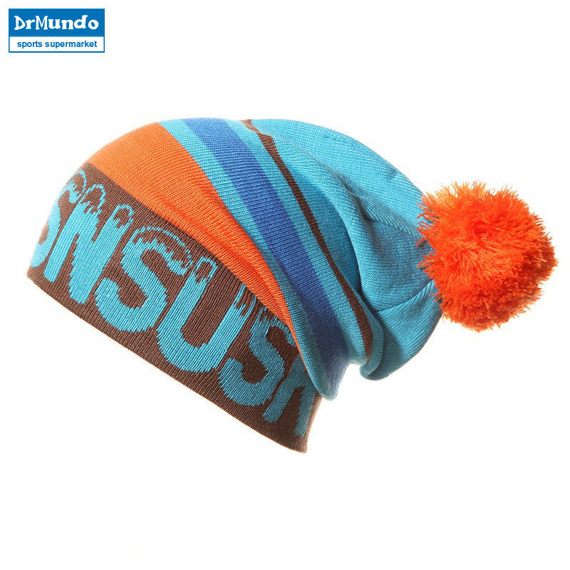 2018 Wew Snowboard Winter Ski SKULLIES CAPS Hats Beanies Wool Knitted Head Warm For Men Woman Gorros De Lana free shipping winter beanies hat thick knitted wool skullies casual cap with real raccoon fox fur pompom women gorros caps