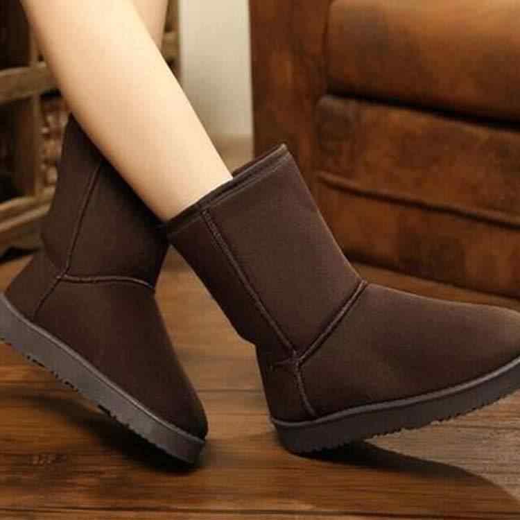 Kar Botları kışlık botlar kadın Taklit Kürk kadın Ayak Bileği Patik ayakkabı kadın Deri Kadın Rahat botines mujer 2018