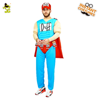 Male Duffman Muscle Costume Funny Halloween Party Hot Sale Superhero Role Play Muscle Costumes For Adults