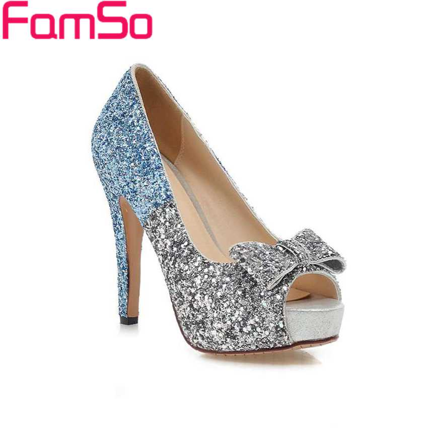 famso 2017 prom shoes sandals gold glitter