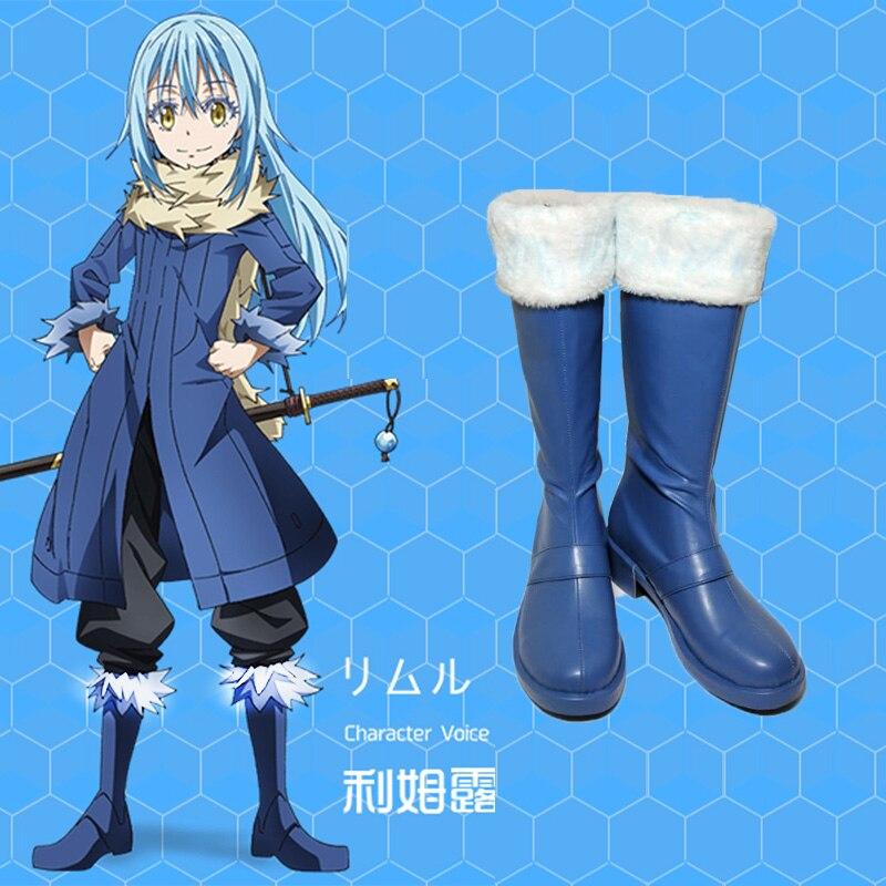Anime Tensei shitara Slime Datta Ken Rimuru Tempest Cute Cosplay Rimuru Tempest shoes Custom men's and women's cartoon shoes