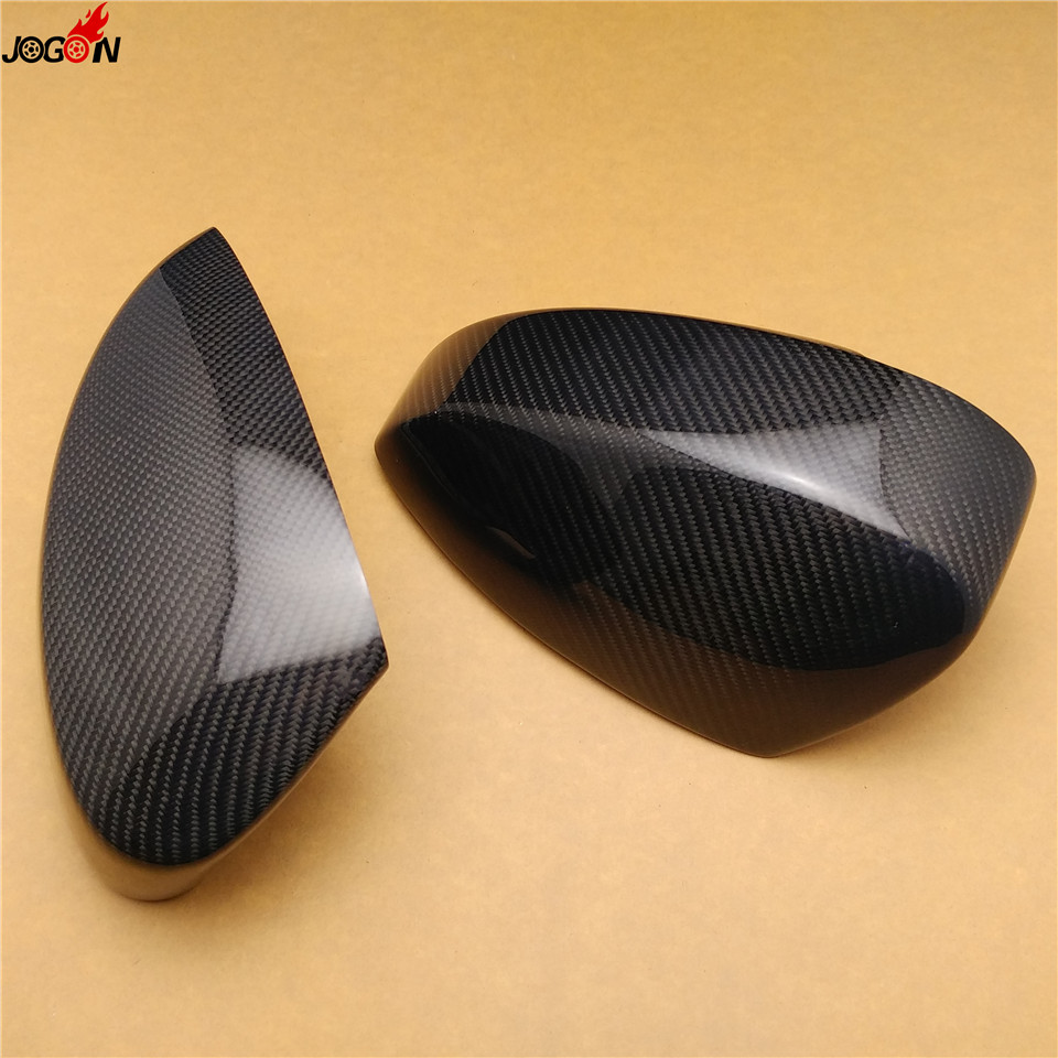 2pcs Carbon Fiber Rear View Rearview Mirror Cover Trim For Nissan 350Z Z33 2003-2008 carbon fiber dial dash cover glossy fibre finish interior accessories trim fit for nissan 350z z33 car styling