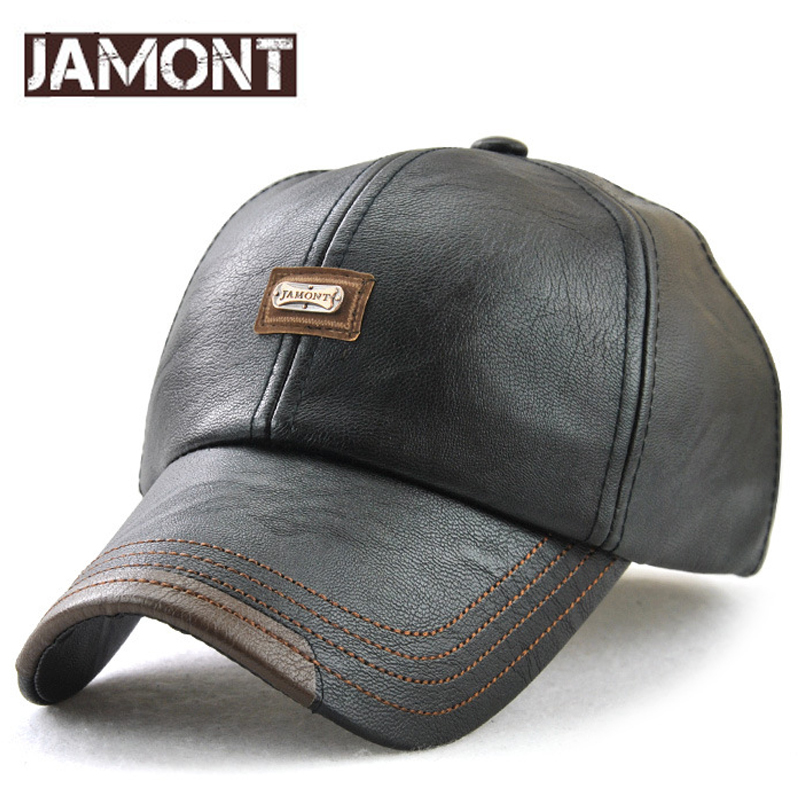 JAMONT 2018 NEW PU Leather Baseball Cap Dad Casquette Homme Hip Hop Male and Female Casual Polo Hat Adjustable PU Casquette Caps feitong summer baseball cap for men women embroidered mesh hats gorras hombre hats casual hip hop caps dad casquette trucker hat