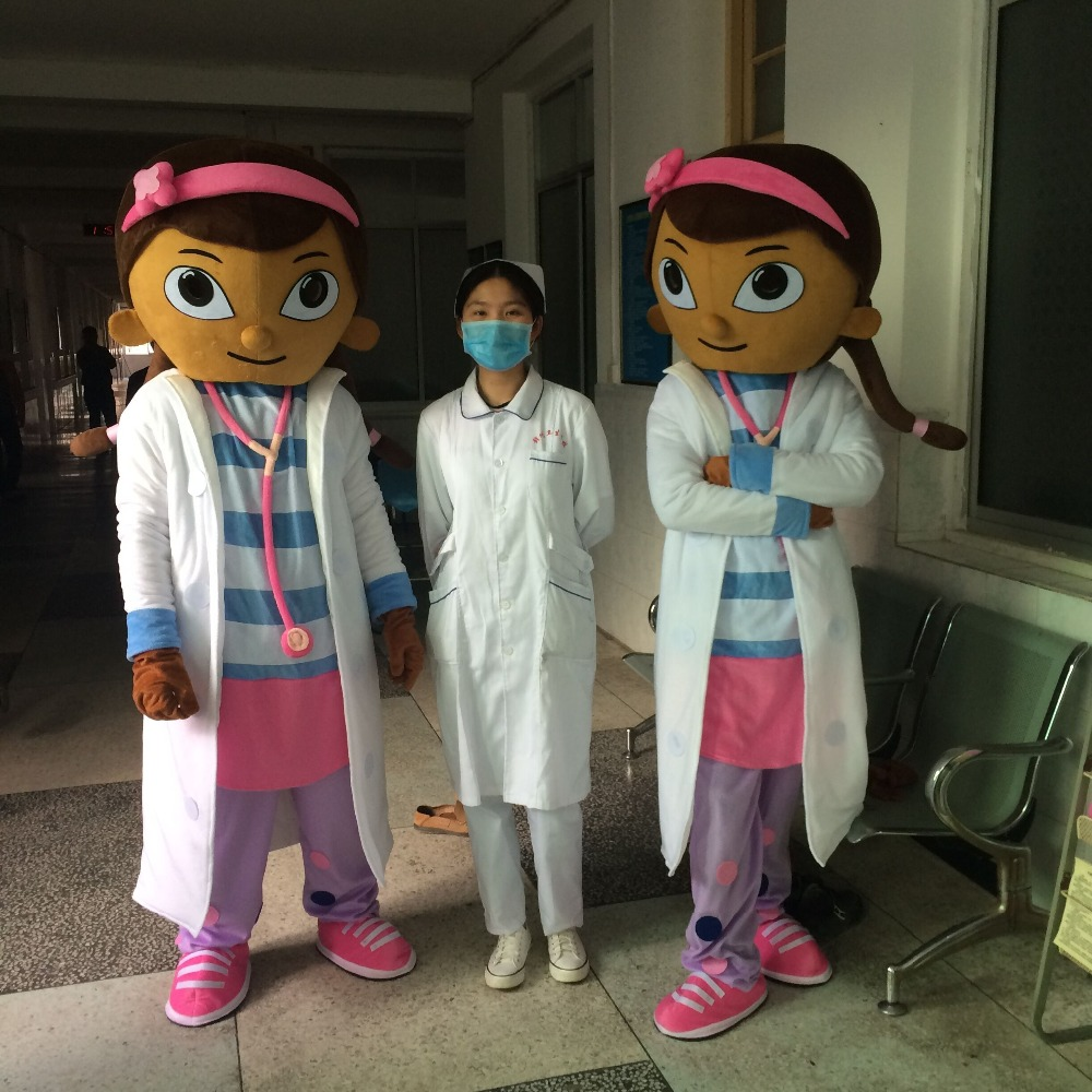 The most popular Christmas Halloween Doc McStuffins cartoon costumes for Halloween party supplies adult size mascot