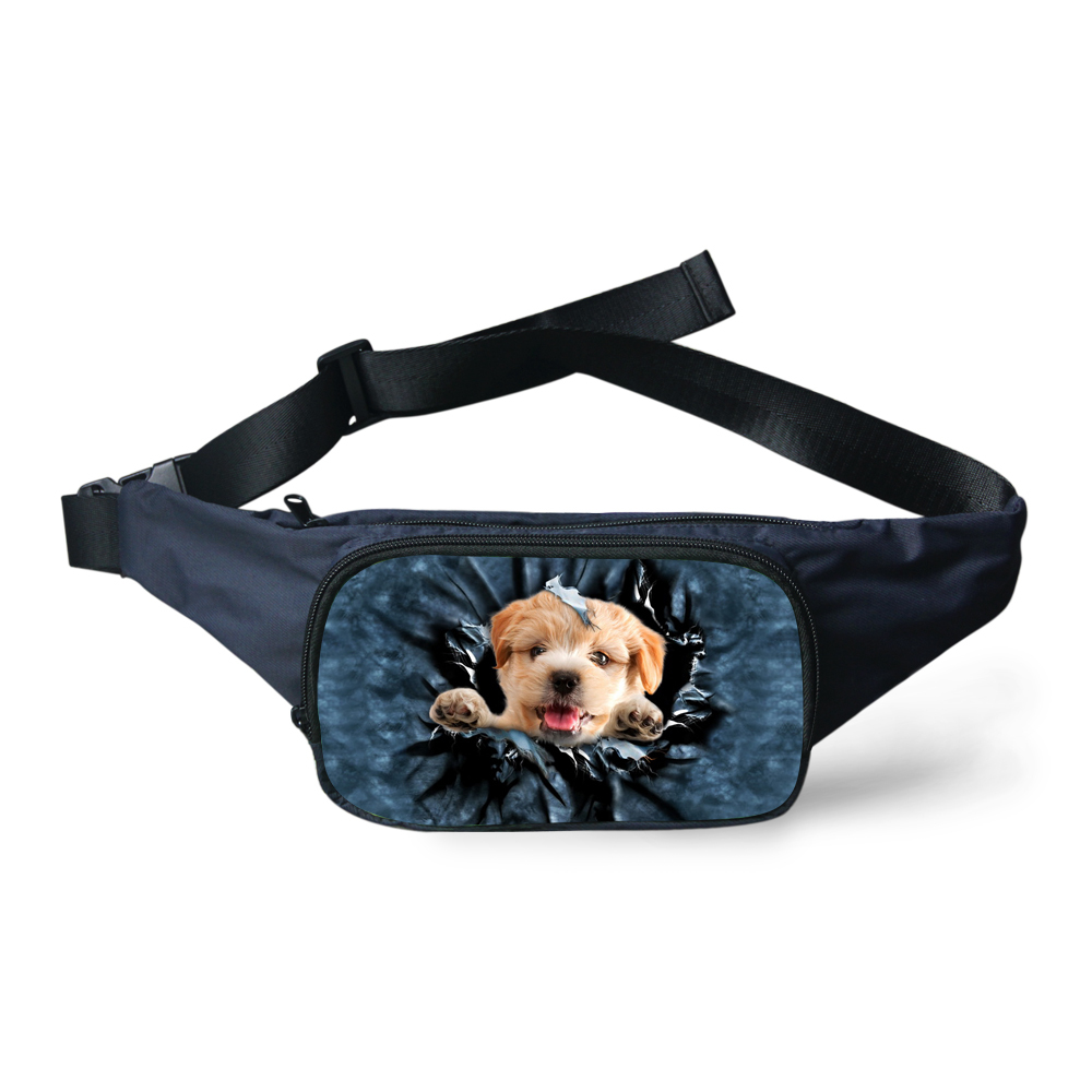 c8d3a980e Moda Bolsos de La Cintura Paquete de La Cintura de Las Mujeres Cute Cat Dog  Animal Print Bolso de La Correa Riñonera Mens Cremallera Niñas Kawaii  Correa Del ...