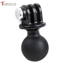 TOFOCO For Gopro Hero 5 2 3 3+ 4 Action Camera Ball Head Base Adapter Holder Tripod Mount 360 Degree Rotation for Xiaomi Yi