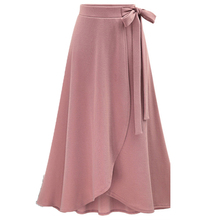 ZYFPGS 2019 Spring Summer Casual Woman Skirt Asymmetrical Plus Size Skirts Women 5XL 6XL Lace-Up #D0110