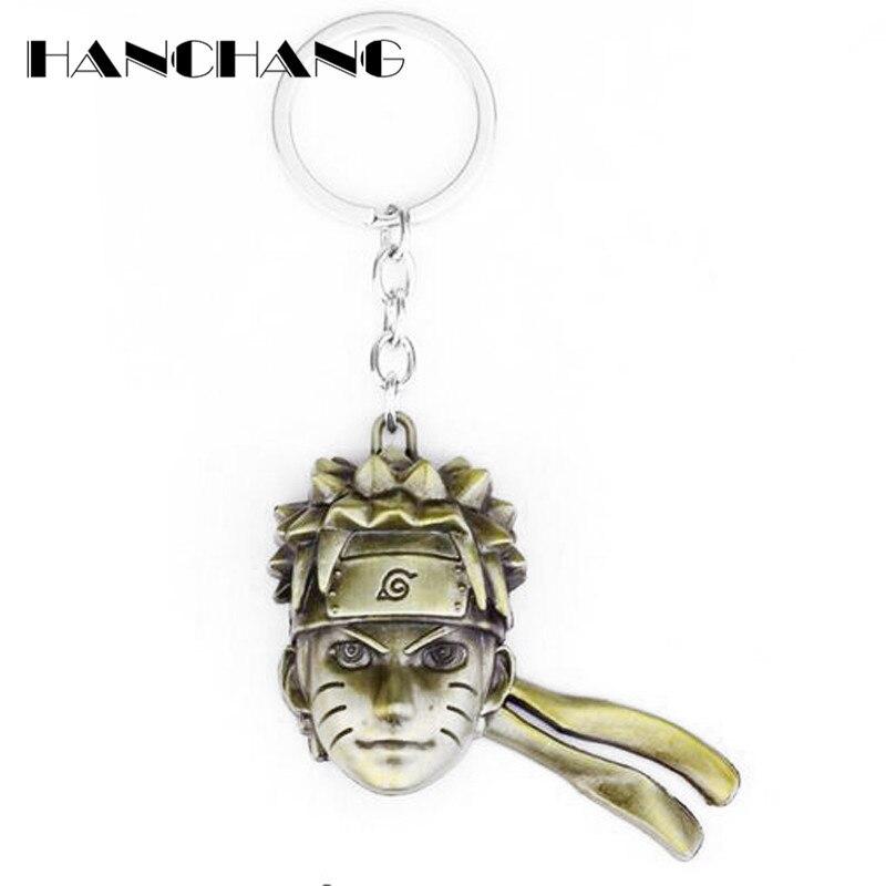 HANCHANG Accessories Anime Jewlery Uzumaki Naruto Character Keychain Mans Fashion Keyrings Key Chains