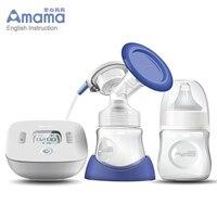 Amama bebê recém nascido inteligente lcd usb bomba de mama elétrica ultra silencioso portátil amamentação bomba com 9 níveis de sucção ajustável Bombas elétricas p/ retirar leite    -