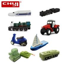 CHYI motorcycle/car/armored/vehicle/tank/train/ship/tractor Usb flash drive pen drive 32GB pendrive 64gb 16g 8g 4gb memory stick