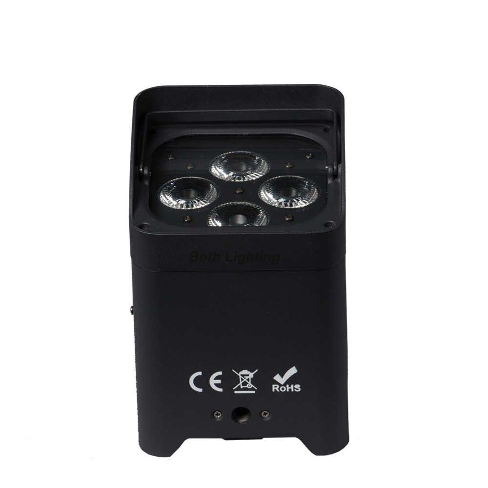 8 adet WIFI Akıllı DJ 4*18W 6in1 RGBAW UV Akülü Kablosuz LED Uplighting Olay Parti Için düğün Uplighting yağmur kılıfı
