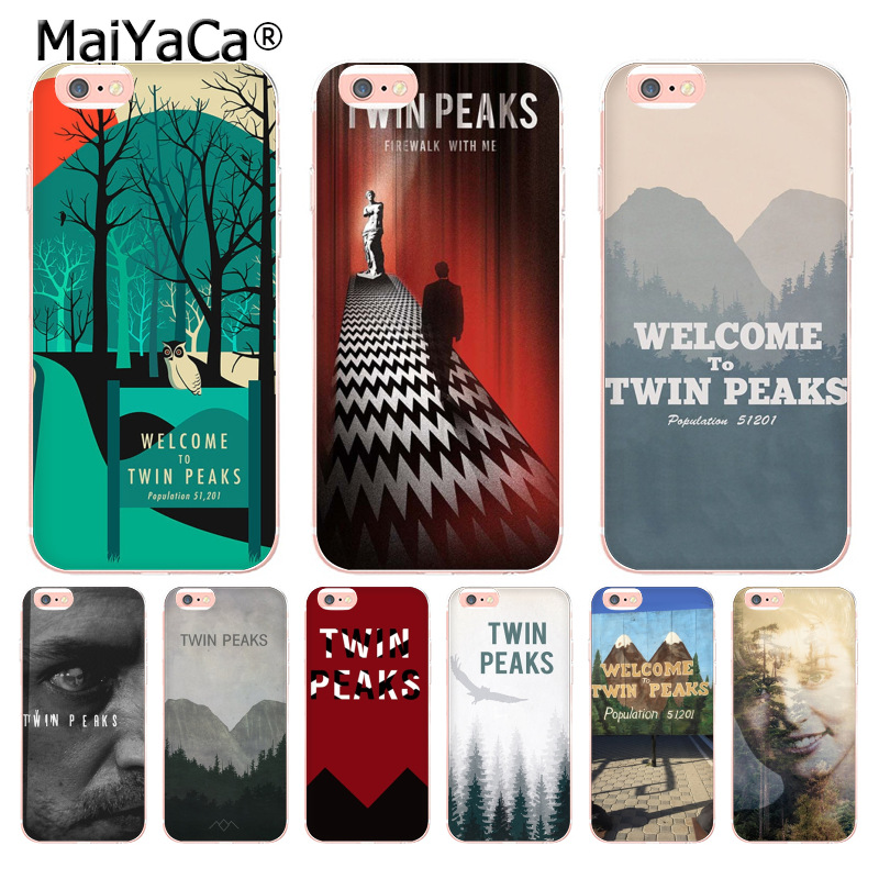 MaiYaCa Welcome To Twin Peaks New Arrival Phone Ultrathin Case for iPhone 8 7 6 6S Plus X 10 5 5S SE 5C case Coque