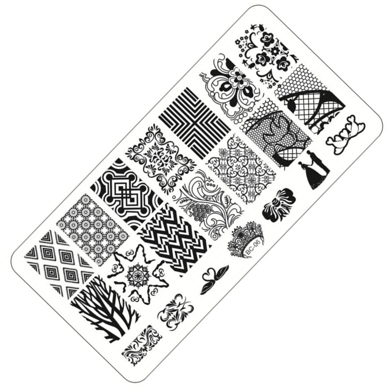 1 Sheet Lace&Flowers Series Stamping Nail Art Image Plate