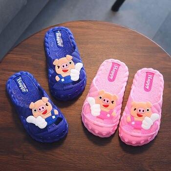 Koovan Children's Slippers 1-7 Year Old Children Summer Cool Piggy Girl Boy Baby Bathroom Home Anti-skid Kids - discount item  6% OFF Children's Shoes