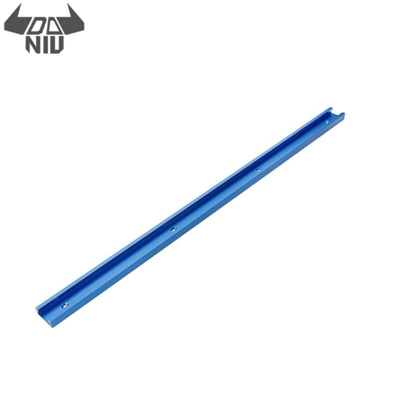 DANIU Blue 300-1000 мм Т-образная направляющая с Т-образным пазом для крепления зажима 30x12,8 мм для станка для настольной пилы, деревообрабатывающего ...