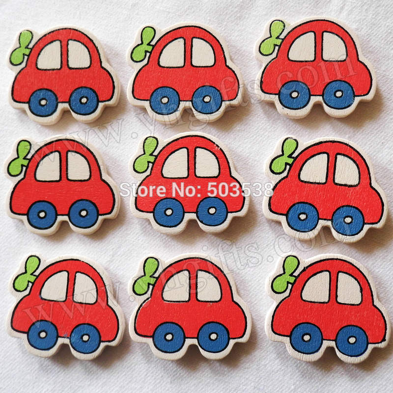 wood car stickerskids toysscrapbooking kitearly educational diykindergarten craftsclassic toyswholesale3x34cm