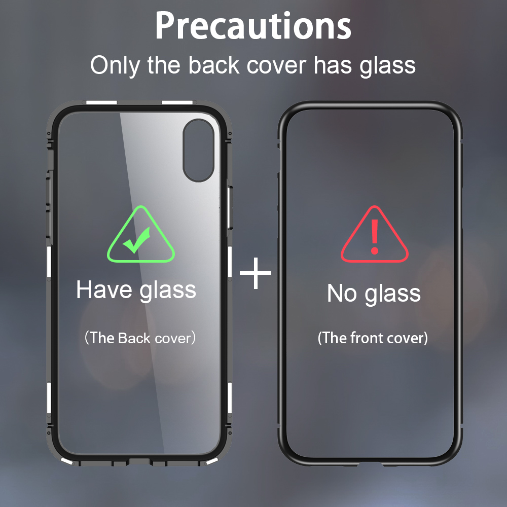 CASEIER-Ultra-Magnetic-Phone-Case-For-iPhone-X-7-8-9H-Tempered-Glass-Cover-For-iPhone (8)