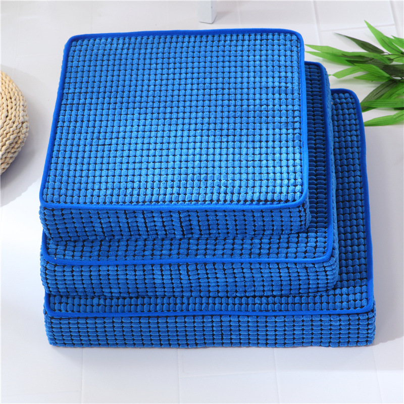 Smelov Thickened Tatami Seat Cushion Detachable and Washable Antiskid Car Office Chair Pillow Cushion Sofa pads for All Seasons image
